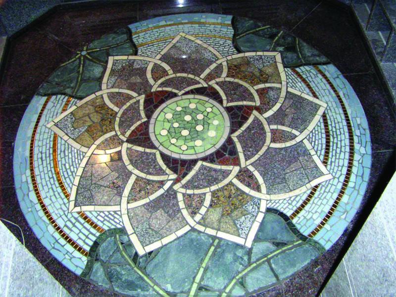 石の床モザイク
