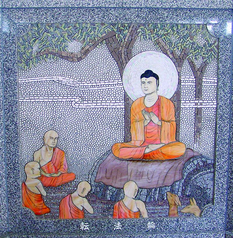 石の壁画モザイク