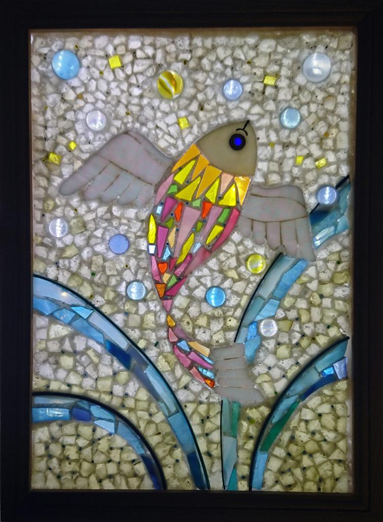 石とガラスによるステンド・モザイク