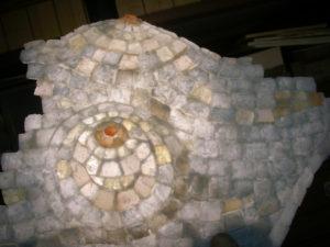 石のステンド・モザイク(制作:遊工房)